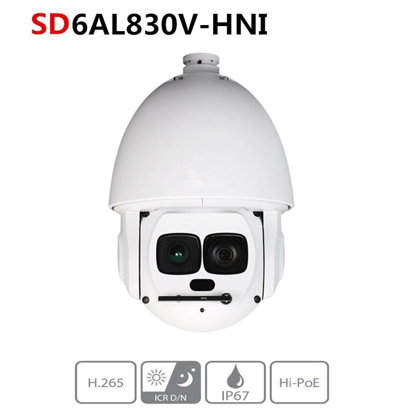 Caméra réseau d'origine DH version anglaise 4 K 30x Laser PTZ 8MP SD6AL830V-HNI prise en charge du suivi automatique hi-poe et IVS IR 500 M IP67