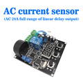 free shipping, AC 0-20A AC current sensor to detect the full range of linear output delay can be set