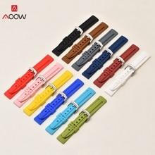 Bracelets Watch-Strap AOOW Sport-Watch Rubber 20mm for Men 18mm 22mm 24mm Belt Diving