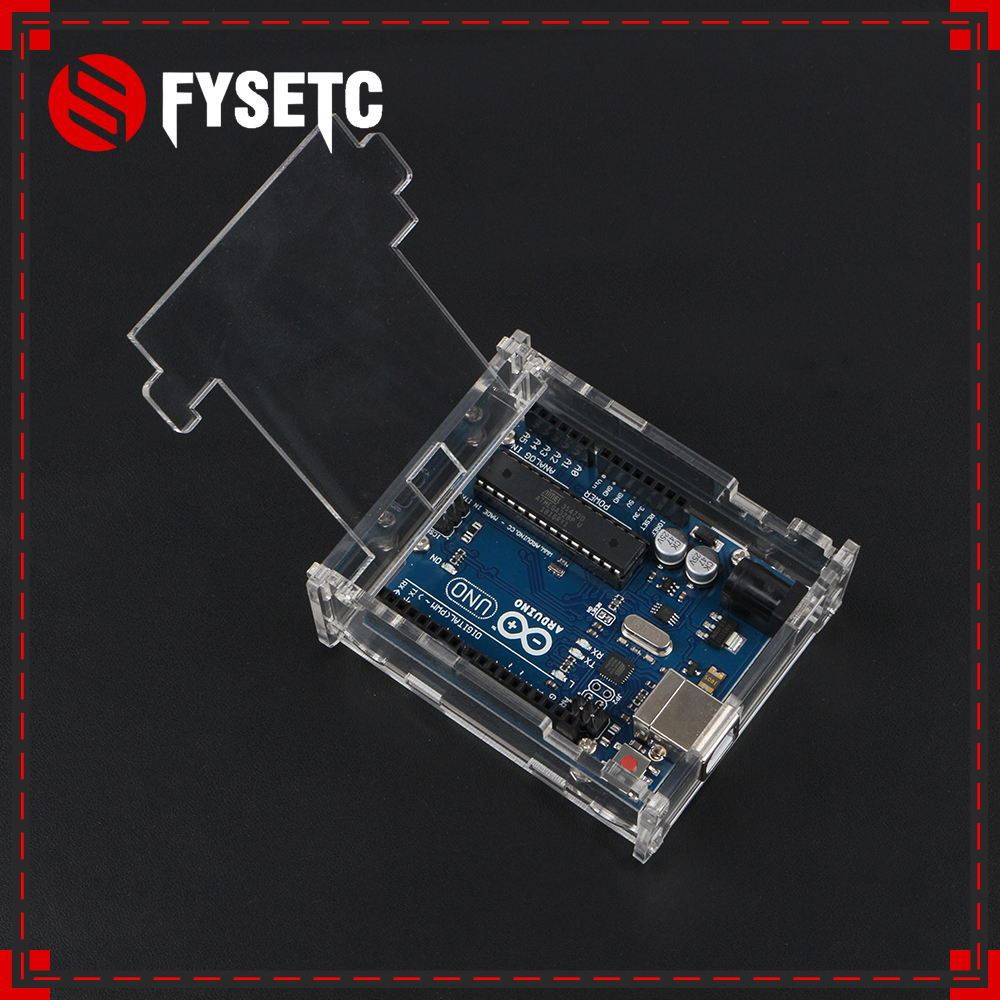 Latest Upgrade Uno R3 Case Enclosure Transparent Acrylic Box Clear Cover Compatible For Arduino Uno R3 Board Module Diy Kit