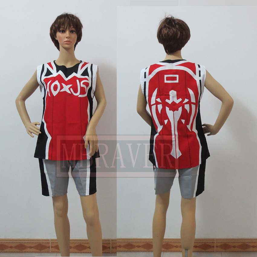 LOL The Hand of Noxus Darius Cosplay Costume Basketball Suit custom-made Any Size