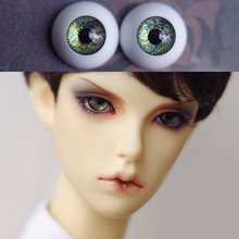 Bjd Eyes for BJD Dolls toys sd eyeball for 1/3  1/4 1/6 1/8 SD Dolls 16mm 18mm 20mm 22mm Acrylic star green EYEs for  kid doll a pair bjd eyes for 1 3 1 4 1 6 bjd dolls yellow watercolor cartoon bjd eyes for sd dolls toys eyeball acrylic eyes comic