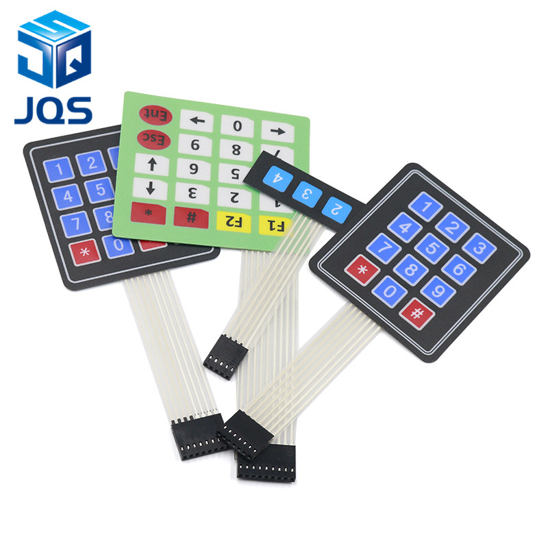 New 4 12 16 20 Key 4*4 Membrane Switch Keypad 1x4 3x4 4x4 4*5 Matrix Array Matrix Keyboard For Arduino Smart Car