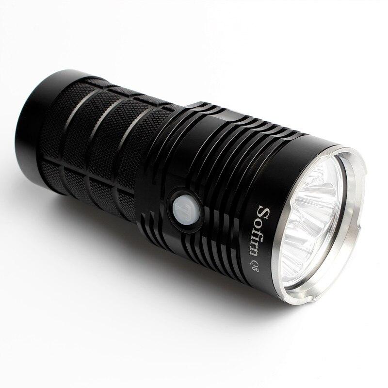 Date Sofirn Q8 4 * XPL SALUT 5000LM Puissant lampe de poche led 18650 Multiples Fonctionnement Procédure torche super lumineuse IPX8 - 5
