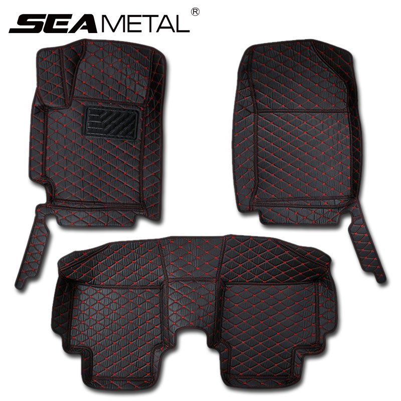 Car Floor Mats For Russia KIA RIO K2 4 2018 2017 Car Manmade Leather Rug Custom