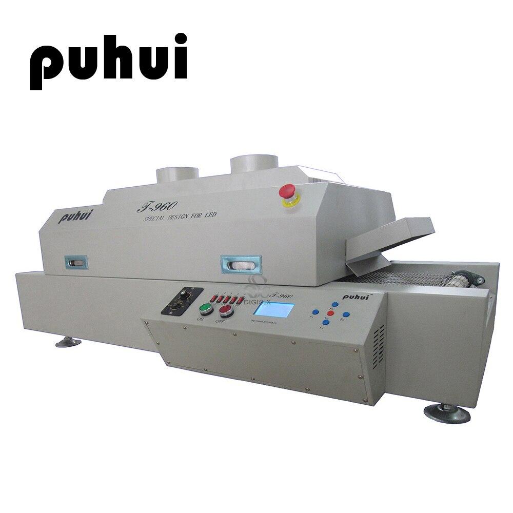 PUHUI T-960 Infrared SMT Small Smart Reflow Welding Machine Equipment LED Oven PCB Soldering IC Heater BGA Rework Sation