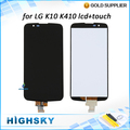 New tested lcd display touch screen digitizer full assembly replacement parts for LG K10 LTE K420N K430 K430ds 1pc free shipping