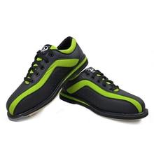 Большие размеры 34-46, черная обувь для боулинга для мужчин и женщин, профессиональные кроссовки унисекс, спортивная обувь, пара моделей, обувь для боулинга