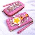 Anime COS changed around Sakura Sakura Clow card magic of Mocha girls long bi-fold wallet money clip girlsASL2103