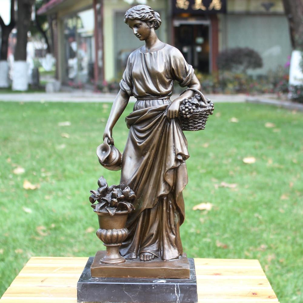 af vestlig skønhed i europæisk klassisk BRASS-statue af - Indretning af hjemmet - Foto 1