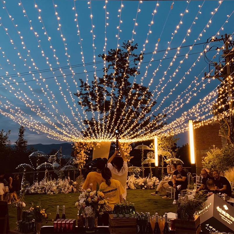 10M 100 Led String Girlande Weihnachten Baum Fee Licht Kette anschließbar Wasserdicht Home Garten Party Outdoor Urlaub Dekoration