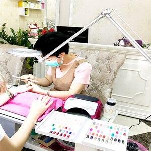 Image 5 - Led 8X 拡大鏡ランプ、スイベルアームクリップオンテーブルデスクライト修理美容クランプ美容スキンケアマニキュアガラスレンズタトゥー