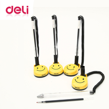 Deli 4pcs/set gel pen Smile face fixed table stationery ink office &school supplies colorful cute wholesale