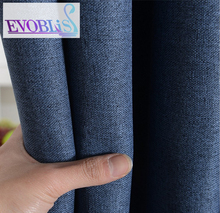 Cortinas de lino para el dormitorio moderno minimalista apagón cortinas para la sala de rideaux rideaux luxe pour le salon salon