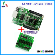 Linsn rv901 (허브 어댑터 보드 포함) led 스크린 수신 카드 rgb led 스크린 led 모듈 컨트롤러