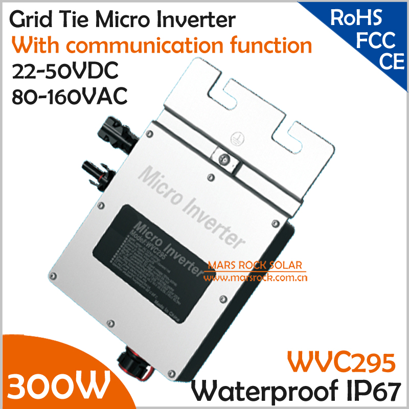 New design!!!300W grid tie micro inverter with communication function, 22-50V DC to AC 80-160V MPPT inverter for 24V/36V system solar micro inverters ip65 waterproof dc22 50v input to ac output 80 160v 180 260v 300w