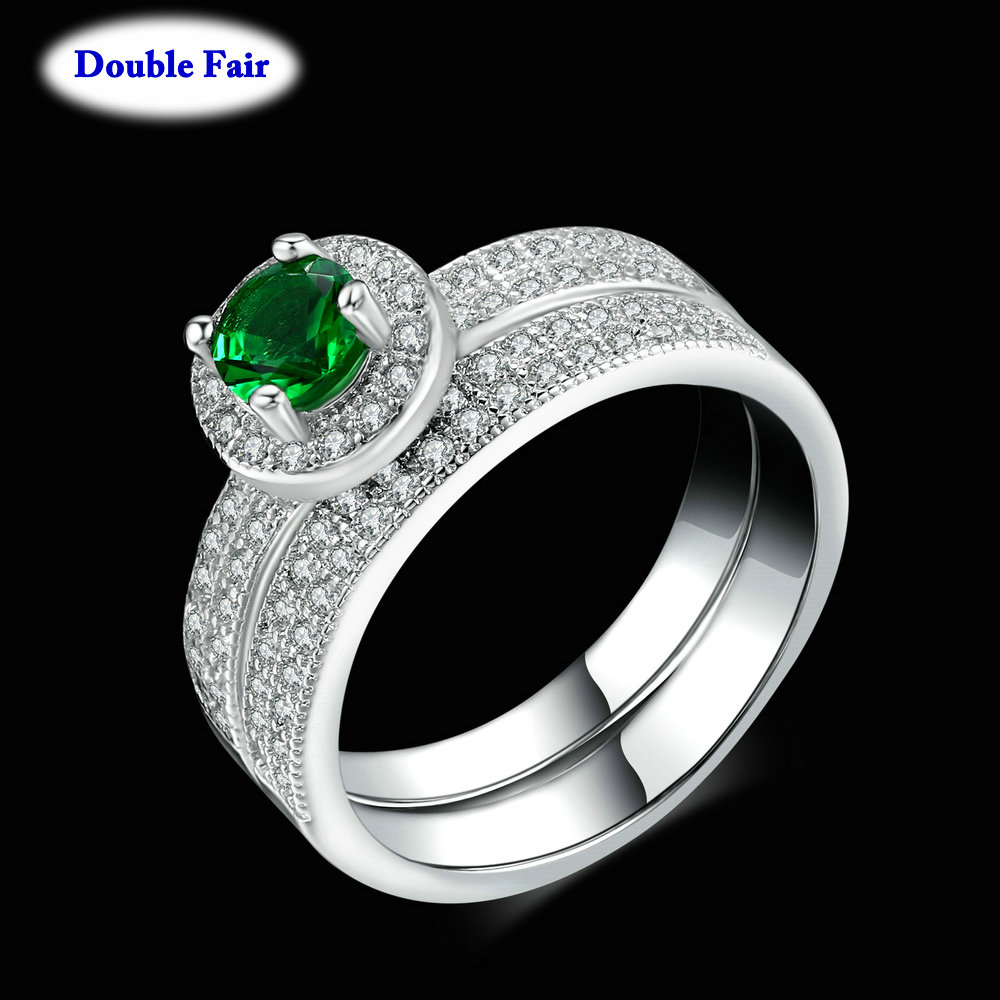 Top Quality Cubic Zirconia Romantic Green Crystal Rings