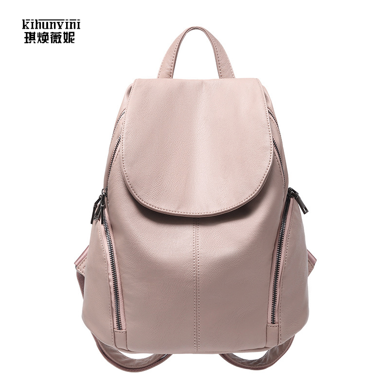 Fashion Pu Backpack Women Backpacks High Quality Korean Pink Back Packs Girls School Bags with Cover Bagpack Mochila FemininaFashion Pu Backpack Women Backpacks High Quality Korean Pink Back Packs Girls School Bags with Cover Bagpack Mochila Feminina