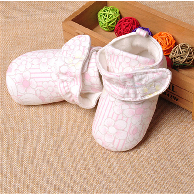 Zapatos lindos Del Bebé Recién Nacido de Algodón Suave Zapatos Para Recién Nacido Calzado Recién Nacido Zapatos de Niño de Algodón de Moda Chica Para Caminar 70A1079