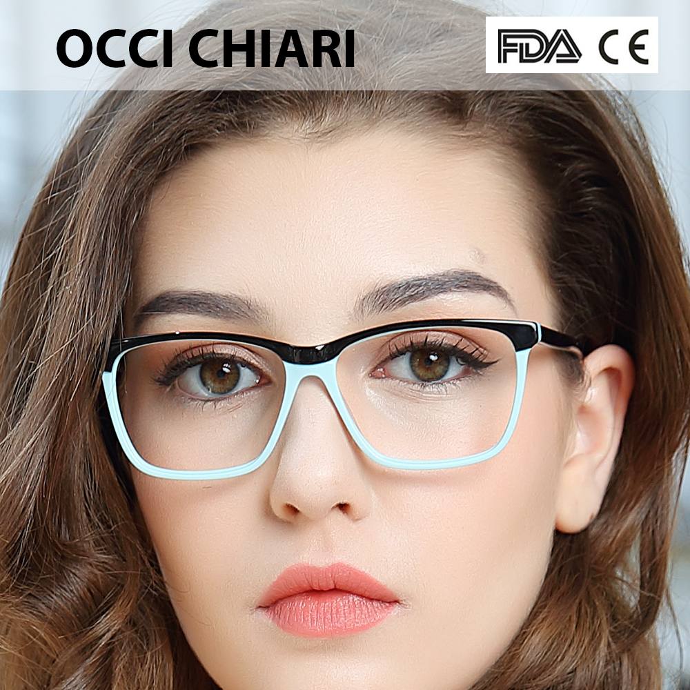 OCCI CHIARI  Fashion Big Rim Eyeglasses 54cm For Women Spring Hinge Prescription Lens Medical Optical Glasses Frame W-ZOPPI