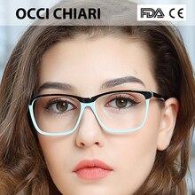 OCCI CHIARI  Fashion Big rim Eyeglasses 54cm For Women Spring Hinge Prescription Lens Medical Optical Glasses Frame W ZOPPI