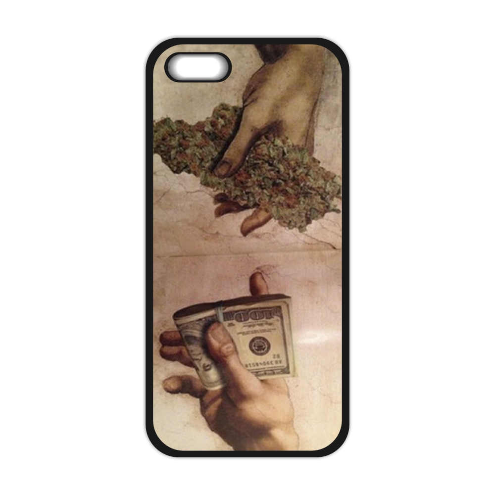 Drug Dealer Money Weed Cover Case for font b iPhone b font 4 4S 5 5S