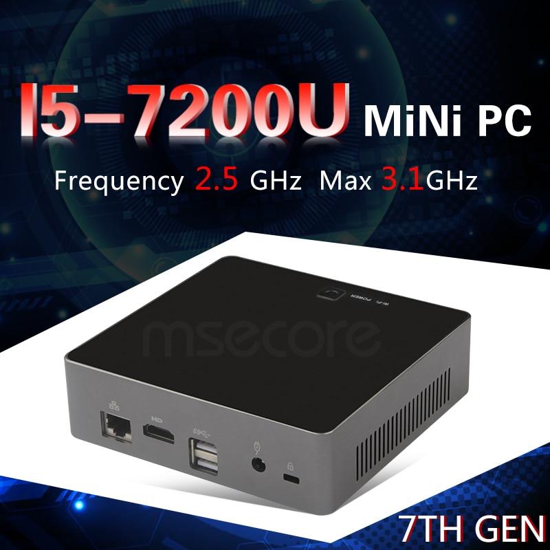 Intel 7th Gen Core i5 7200U Mini PC Windows 10 Desktop Computer NUC Nettop barebone system