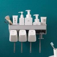 Wall mounted Bathroom shelf toothbrush holder mouthwash suit shelves Shampoo cosmetics Storage Racks bathroom accessories