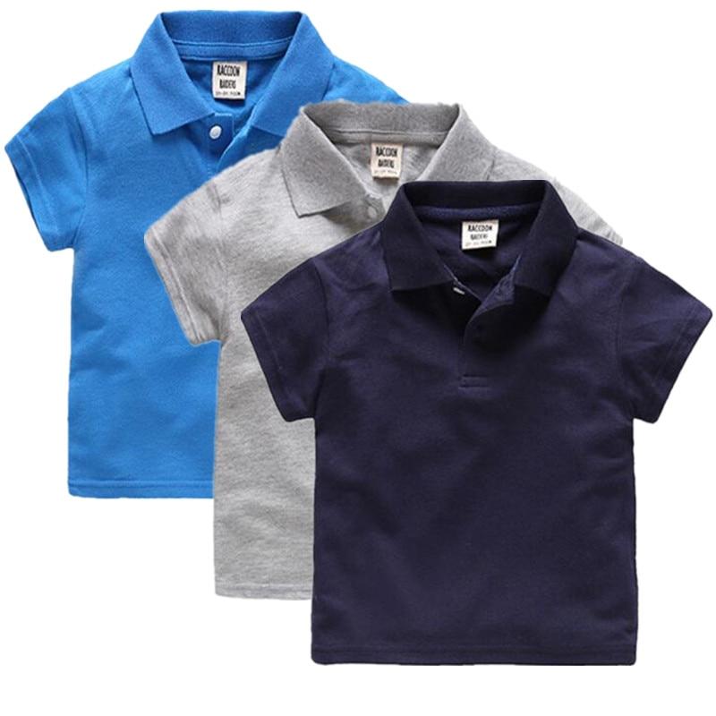 Hot garçons chemise à manches courtes 2017 été nouveauté garçons vêtements enfants Polo taille 2-6Y enfants vêtements garçons marque