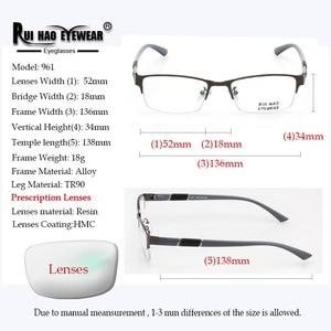 Image 3 - Prescription Eyeglasses Men Glasses Frame Rectangle Design Optical Glasses Myopia Progressive Resin Lenses Spectacles 961