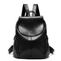 Girl Waterproof High Quality PU Lether Shoulder Bag Small Zipper Backpack Elegant Backpack For Girl S