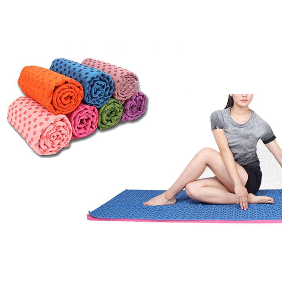 1 Pc High Quality Soft Travel Sport Fitness Exercise Yoga Pilates Mat Cover Towel Blanket Non-slip New Arrival Free Shipping