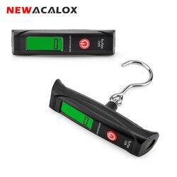 NEWACALOX-balance électronique Portable 50kg x 10g, Mini échelle de voyage numérique suspendue pour poids