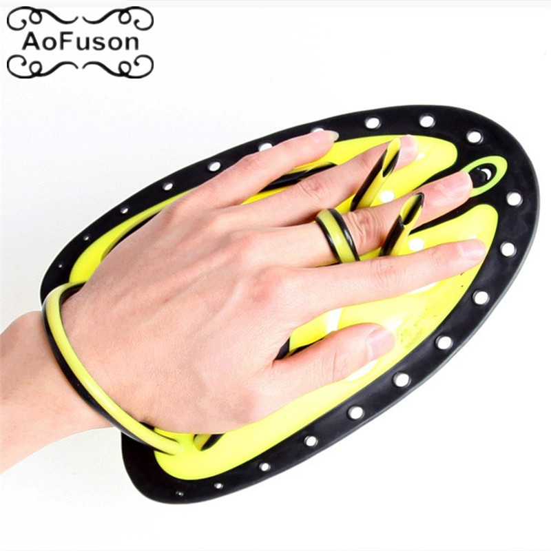 Adjustable Diving Neoprene Hand webbed Swimming Trax Paddles Fins Flippers Webbed Training Pool Gloves padel for Men Women Kids