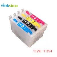 Einkshop T1291-T1294 Recarga Do Cartucho De Tinta Para Impressora Epson SX230 SX235W SX420W SX425W SX435W SX438W SX440 SX445W SX525WD SX535WD