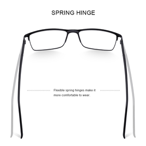 Image 3 - MERRYS גברים כיכר Ultralight טיטניום סגסוגת אופטי משקפיים מסגרת זכר עין קוצר ראיה מרשם משקפיים TR90 האף רפידות S2036