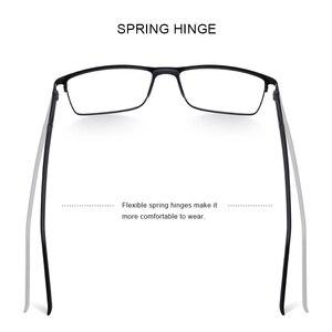Image 3 - Merrys 남자 광장 초경량 티타늄 합금 광학 안경 프레임 남성 눈 근시 처방 안경 TR90 코 패드 S2036
