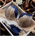 Underclothes Underwear Da Marca Mulheres Bras B C copo conjunto de Lingerie Com Breves Conjuntos de Sutiã Sexy Lingerie de Renda Bordado Bowknot Bras