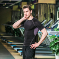 New In 2016 Compression Shirt Men's High Quality Bodybuilding Short Sleevees T Shirt Fitness Men Quick Dry Tights Clothing Tops