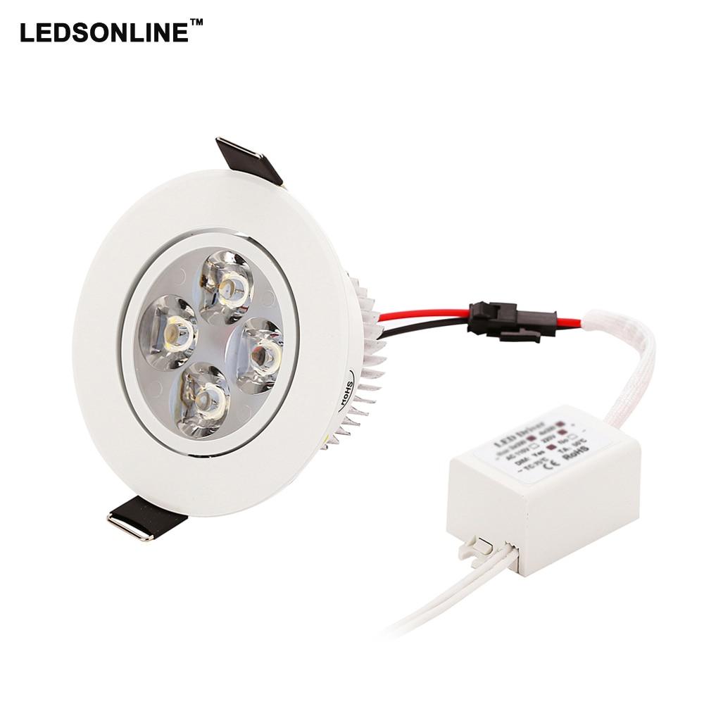 50pcs led downlingts de techo LED empotrable Downlight 4W 3W 270-360 - Iluminación interior