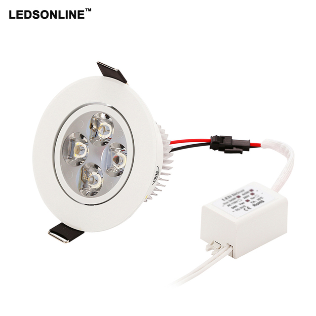 50pcs led ceiling downlingts LED Recessed Downlight 4W 3W 270-360 lm Cut  hole Warm
