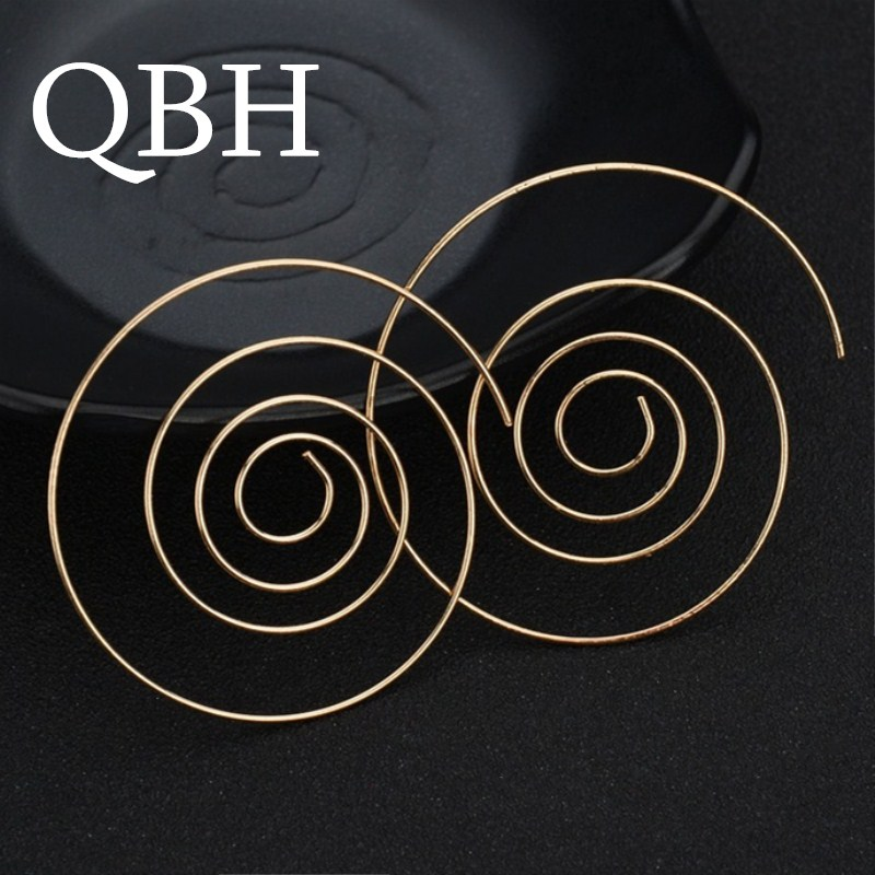Hot Statement Brincos Hyperbole Spiral Stud Earring For Women Punk Sexy Jewelry Round Aretes Pendientes Boho Party Gift
