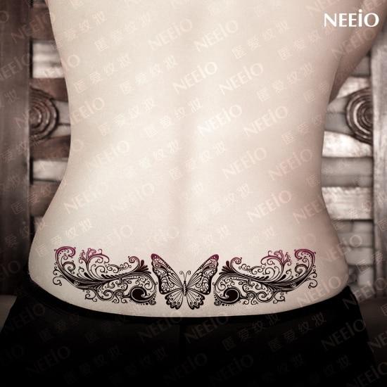 Duża Tymczasowe Tatuaż Motyl Kwiat Winorośli Makijażu Blizny