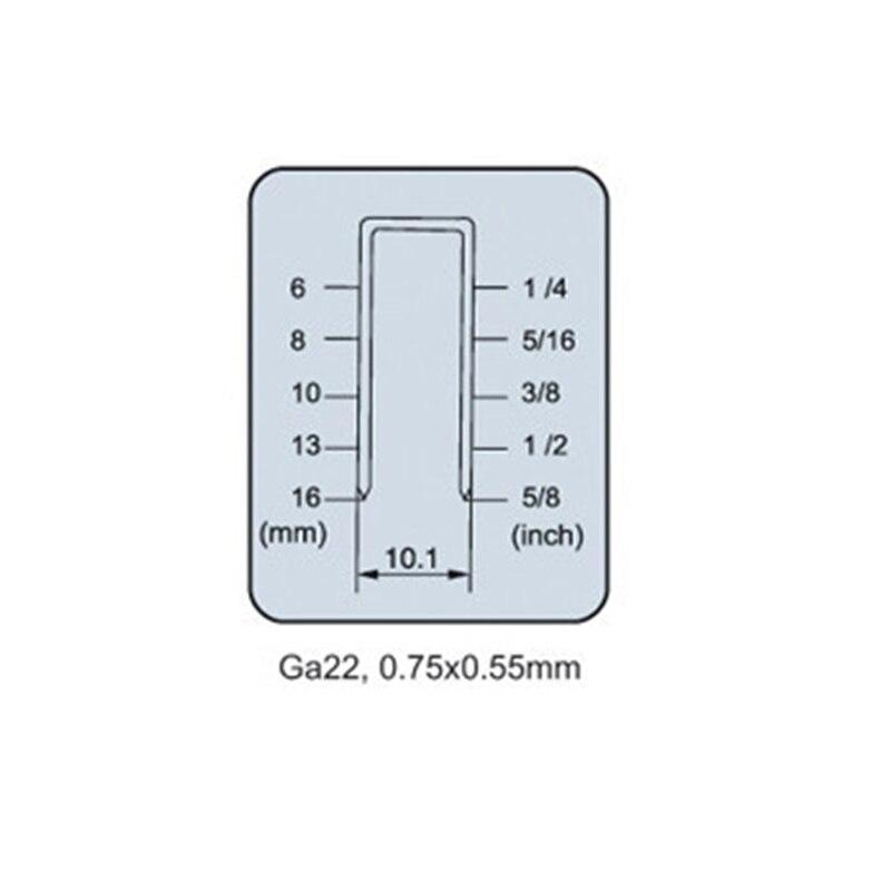 Zszywacz pneumatyczny 1416 1/2 cala gwoździarka Prosta korona - Elektronarzędzia - Zdjęcie 3