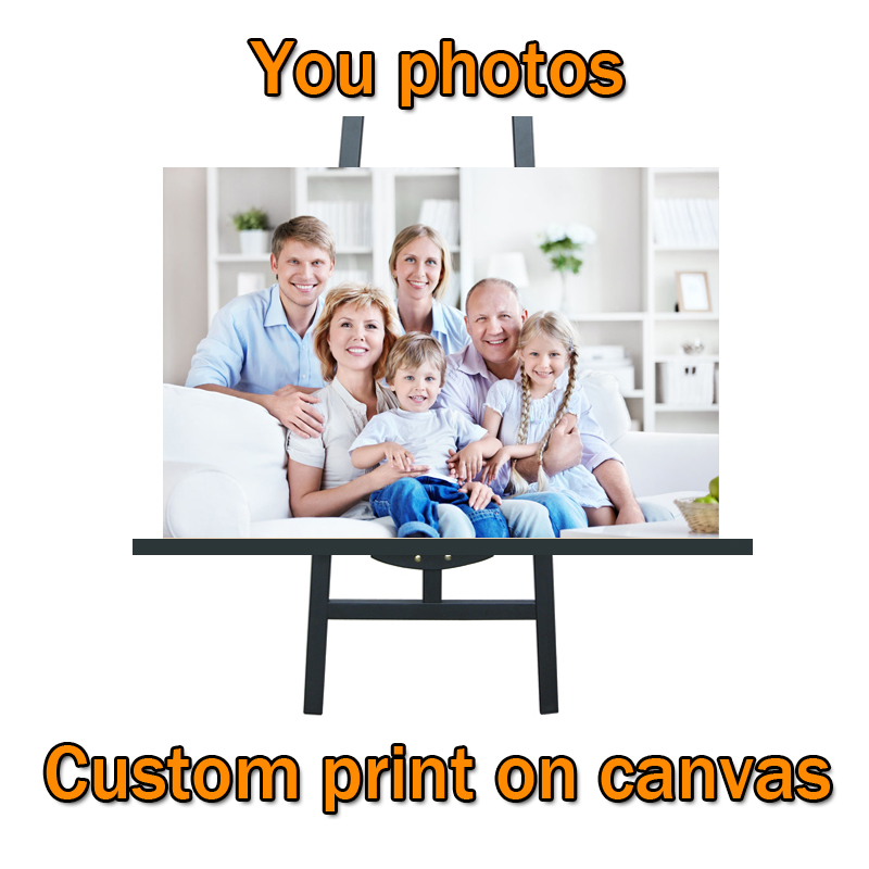 Adogirl Your Picture Family Friends Or Baby Photo Favorite Image Custom Print On Canvas Painting Wall