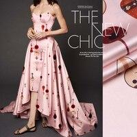 SP346 Pure Silk The Pink Pipa Silk Fabric Mulberry Silk Elastic Stretch Charmeuse 93 Silk 7