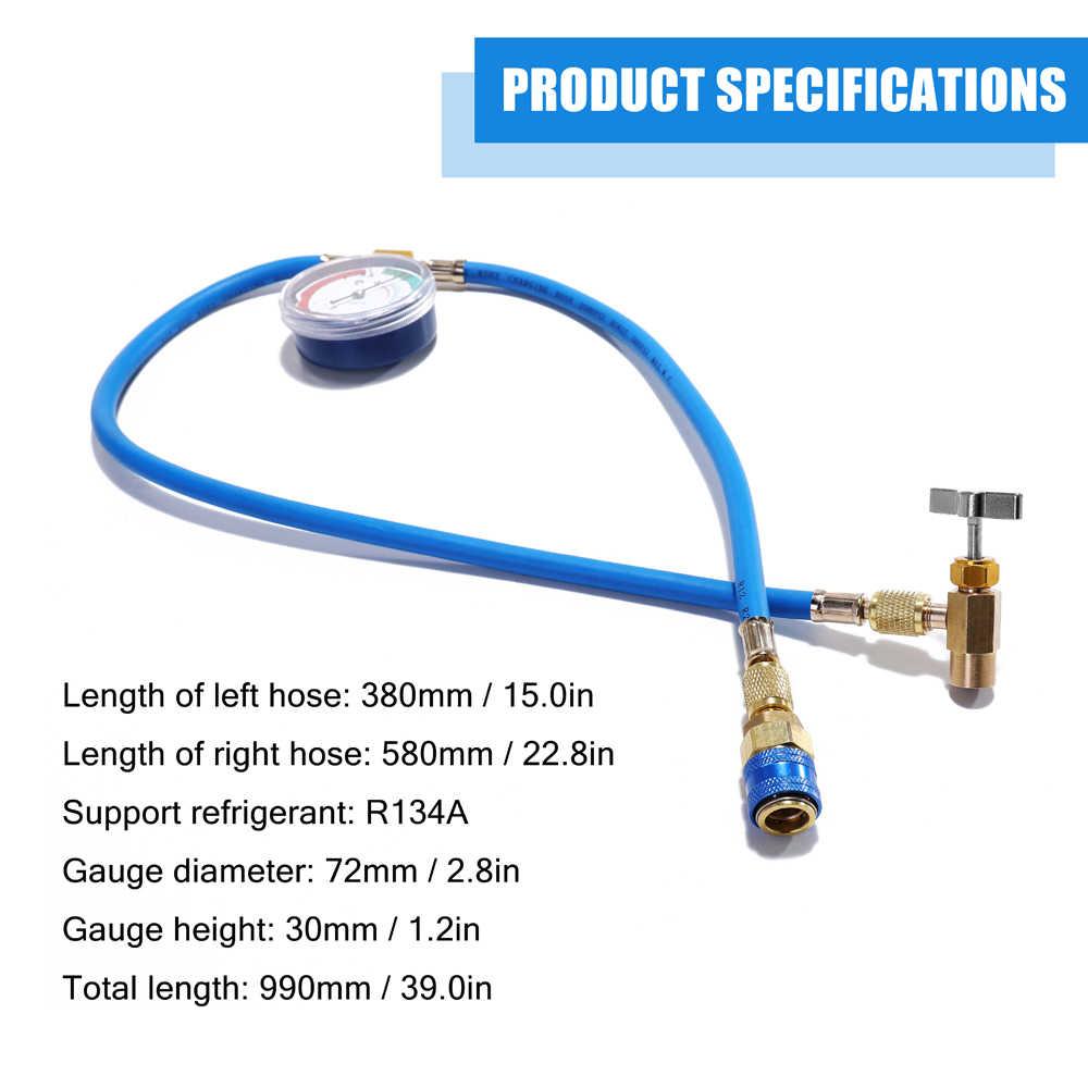 Ac R134a Refrigerant Hose Pressure Gauge Kits Car Auto Air