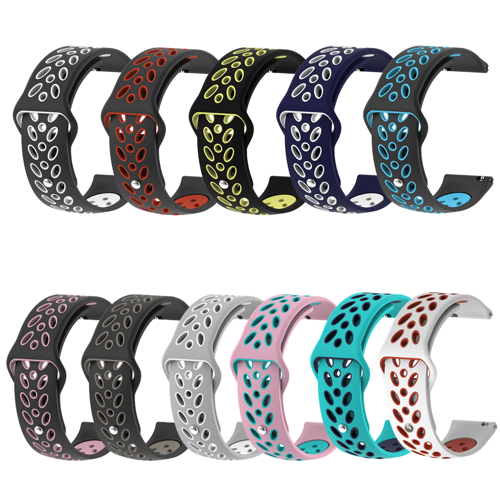 Silicone Strap For Xiaomi Huami Amazfit Bip Yout Smart Watch Sports Wristband For Garmin Vivoactive3 / Samsung Galaxy Watch 42mm