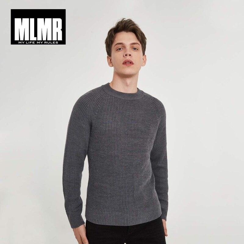 MLMR JackJones de invierno de los hombres-mezcla de lana de manga larga de punto suéter Tops ropa de Jersey de los hombres para Hombre | confección 218325502