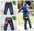 5pcs Boys' Pants Feet Pant boy's Pencil pants Children's cotton trousers Infant baby star Embroidery Letter jeans